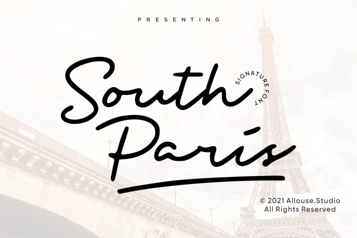 South Paris - Signature Font in Calligraphy Fonts