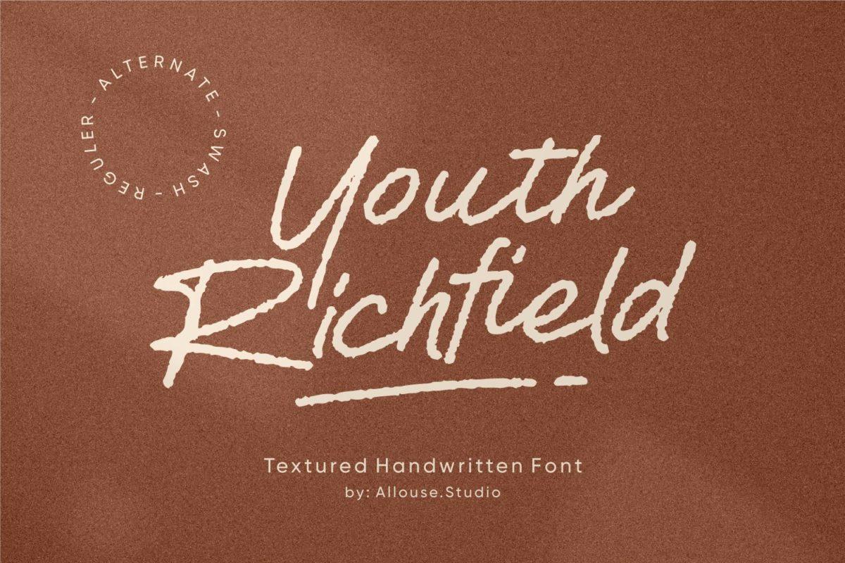 Youth Richfield - Textured Handwritten Font in Brush Fonts