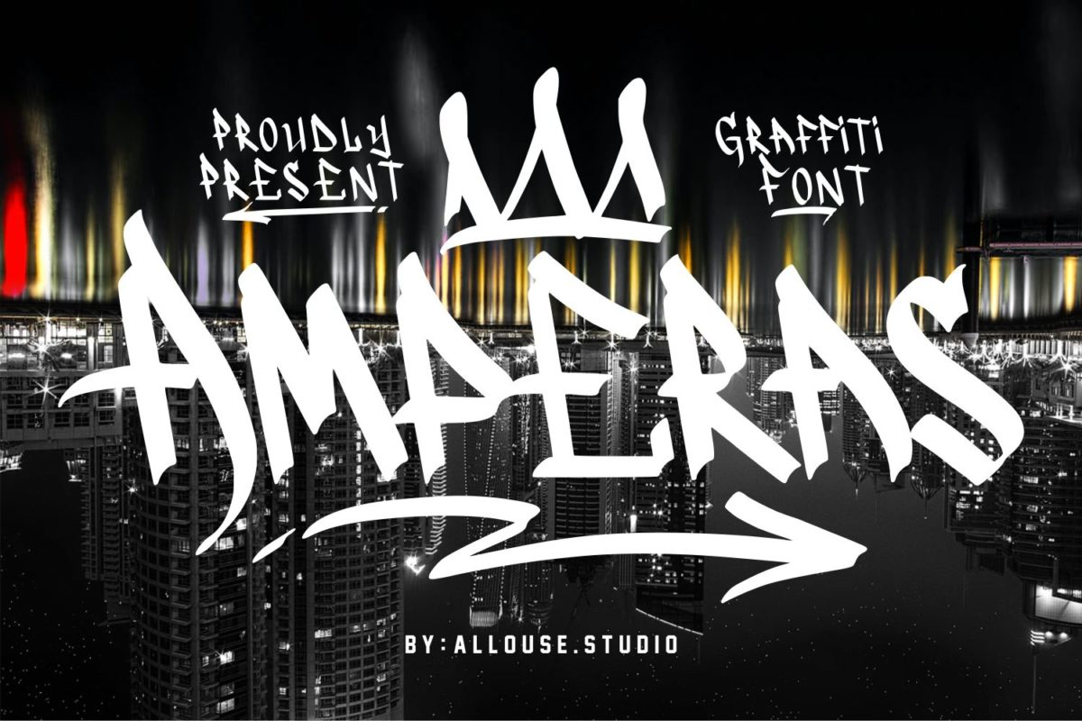 Amperas - Graffiti Font in Display Fonts