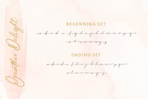 Greater Delight - Natural Handwriting Script in Calligraphy Fonts