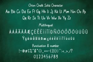 Orion Chalk - Two Styles Solid & Scratch Font in Brush Fonts