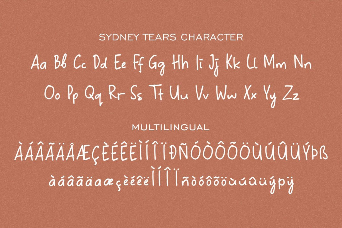 Sydney Tears - Stylish Signature Font in Calligraphy Fonts