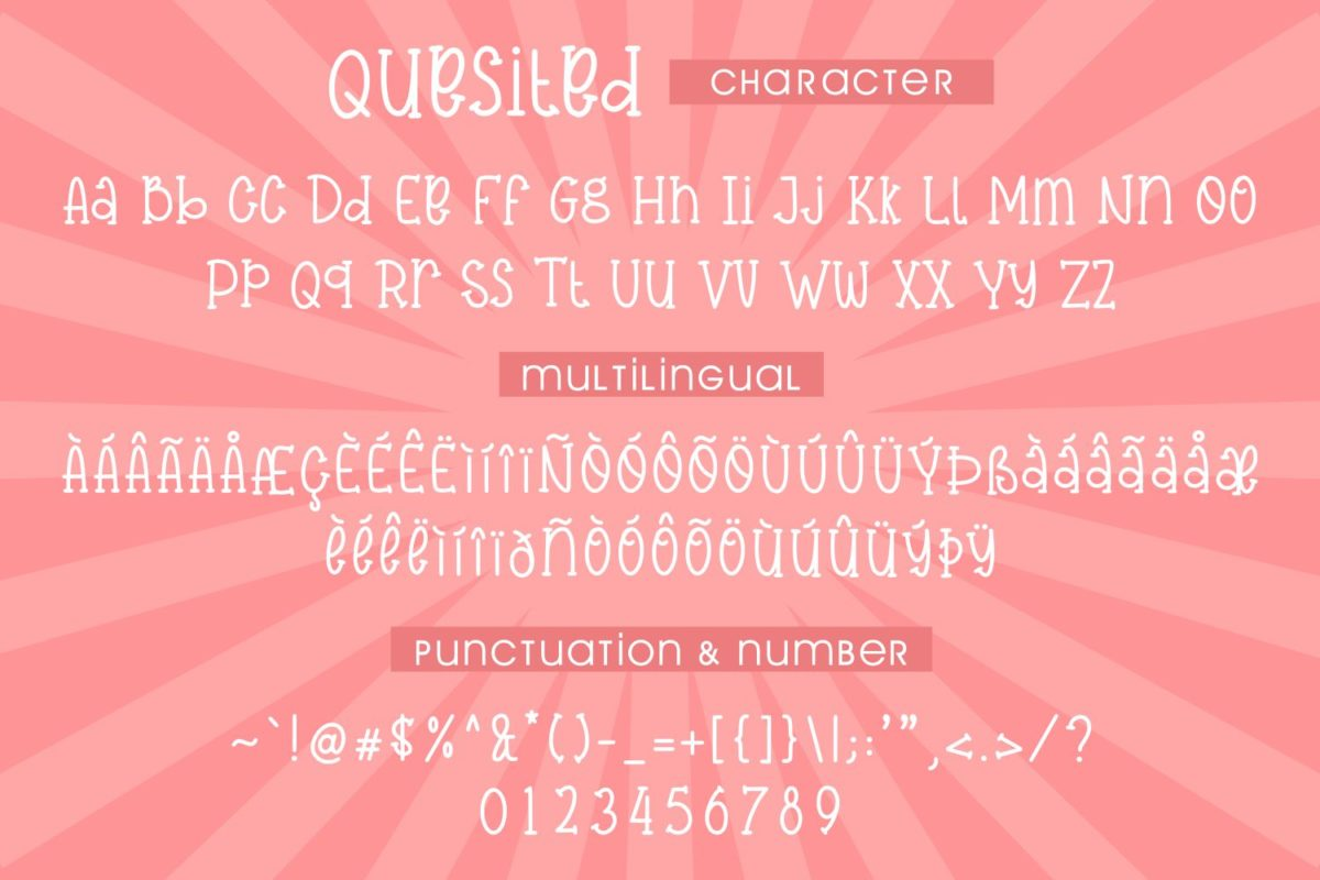 Quesited - Handwritten Quirky Font in Decorative Fonts