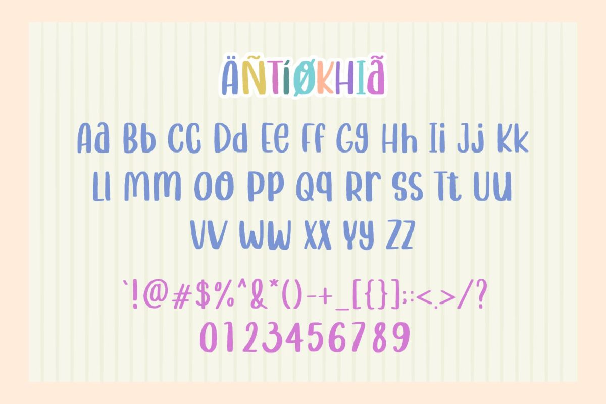 Antiokhia - Fun Quirky Font in Decorative Fonts