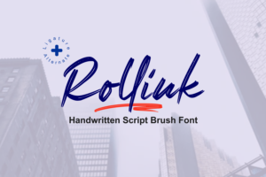 Rollink in Brush Fonts