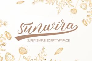 Sunwira in Script Fonts