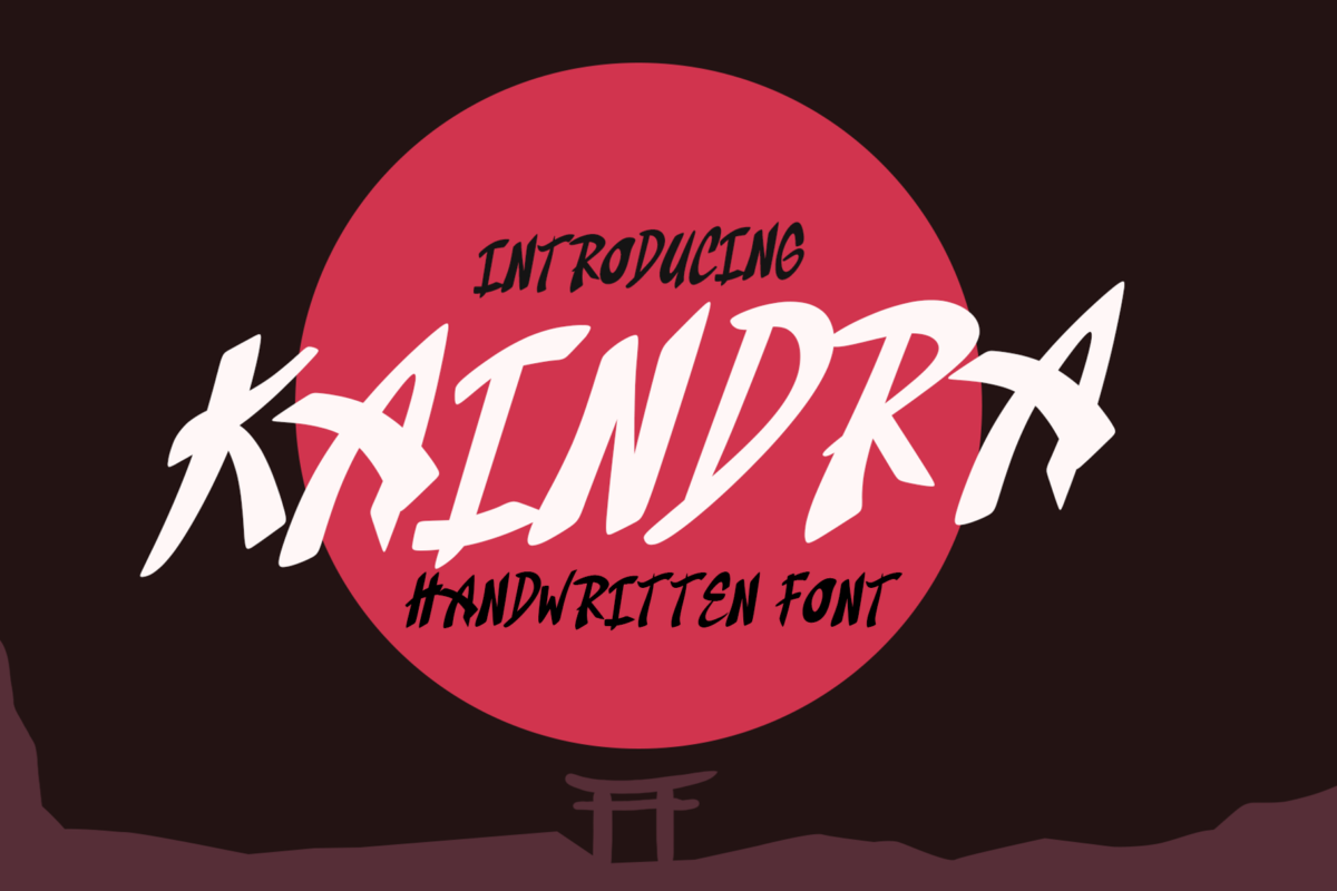 Kaindra - Japanese Style Font in Display Fonts