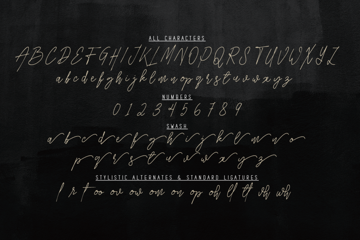 Hillusy in Handwriting Fonts