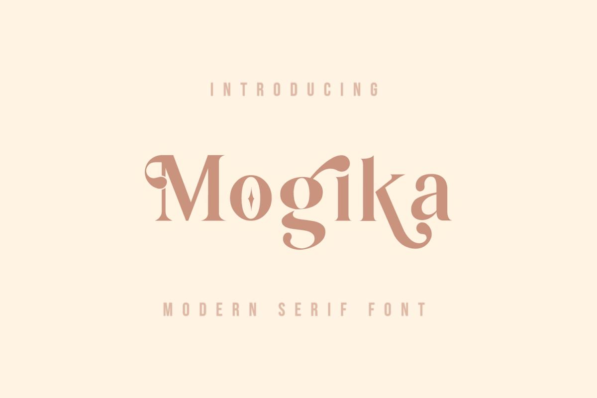 Mogika – Two-faced Modern Serif Font in Serif Fonts