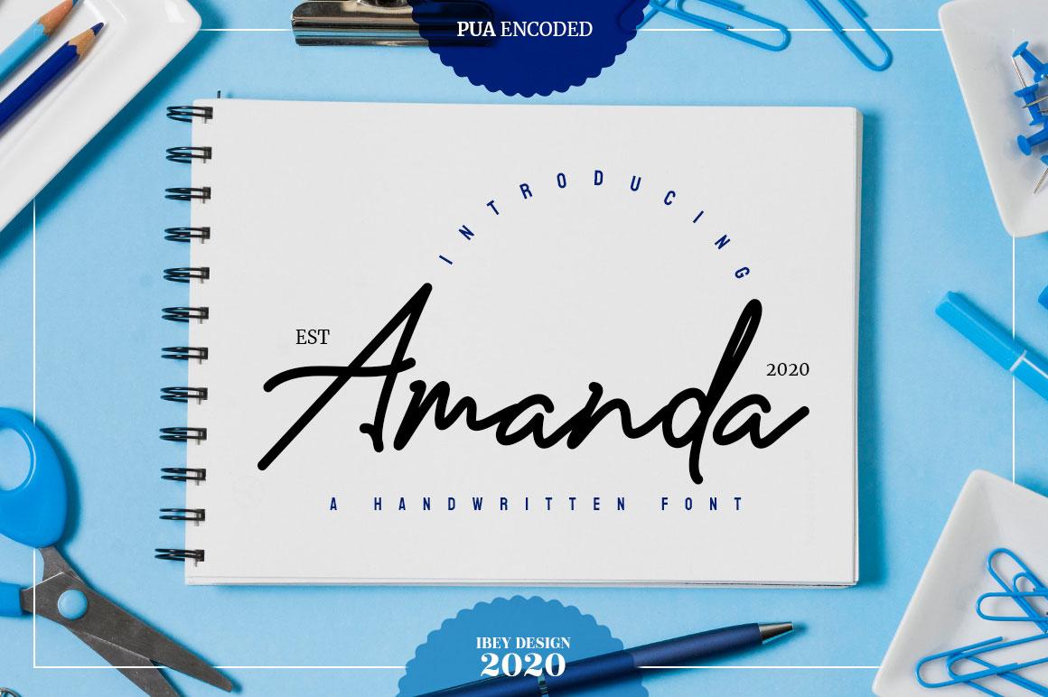 Amanda - Signature Monoline Font in Script Fonts