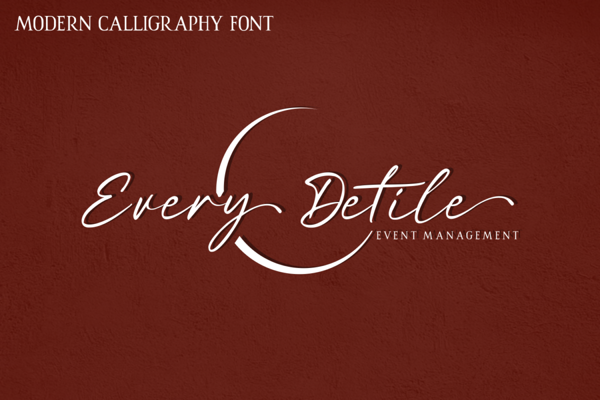 Red Buttery in Script Fonts