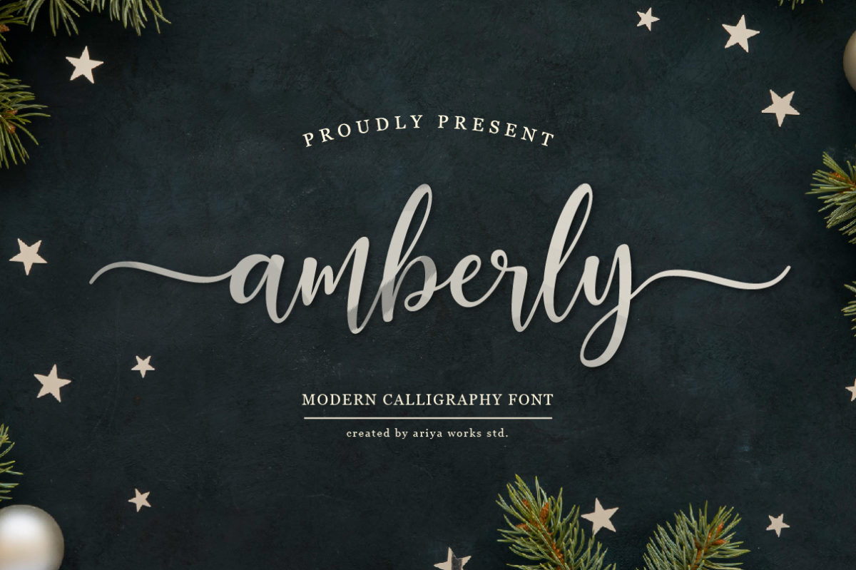 Amberly in Calligraphy Fonts