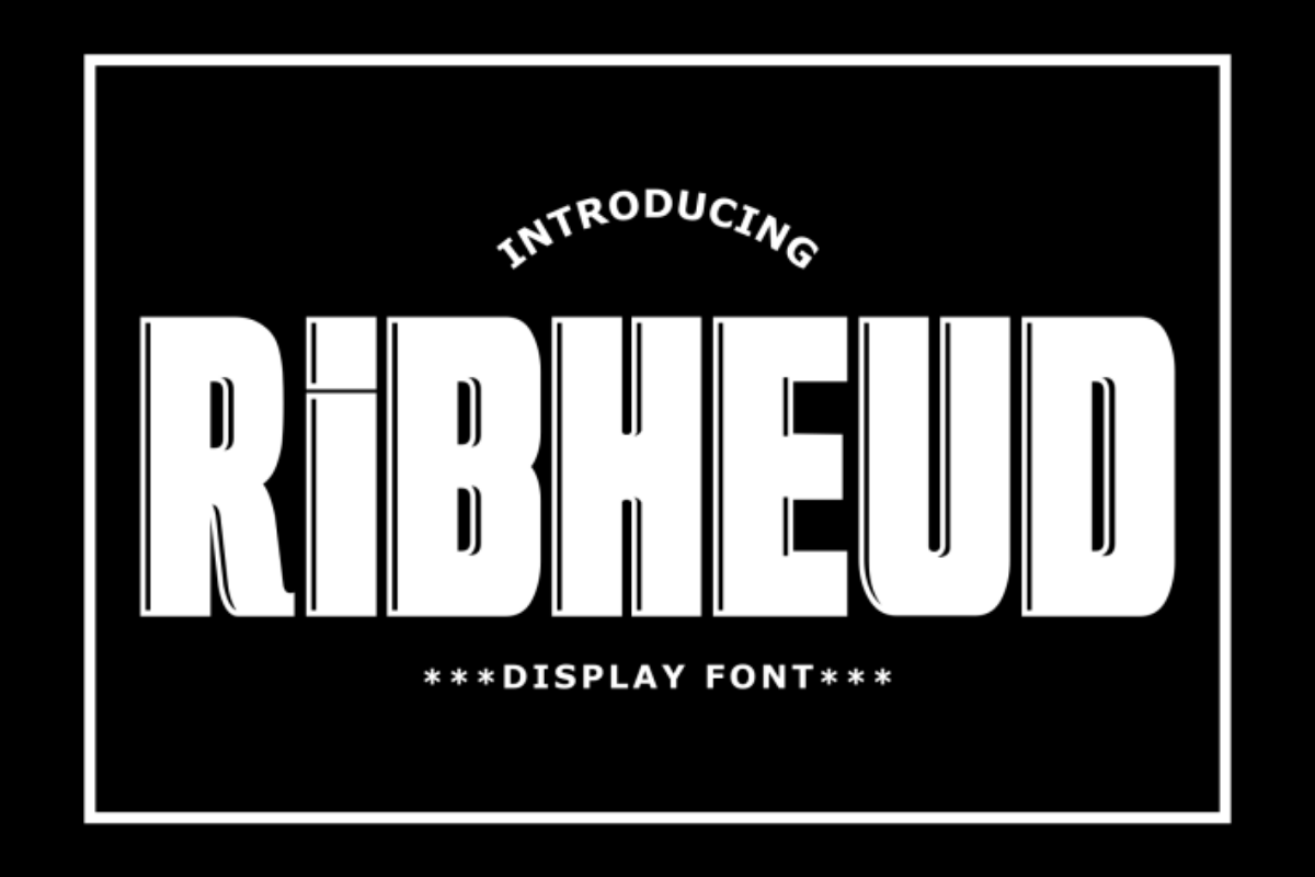 Ribheud in Display Fonts