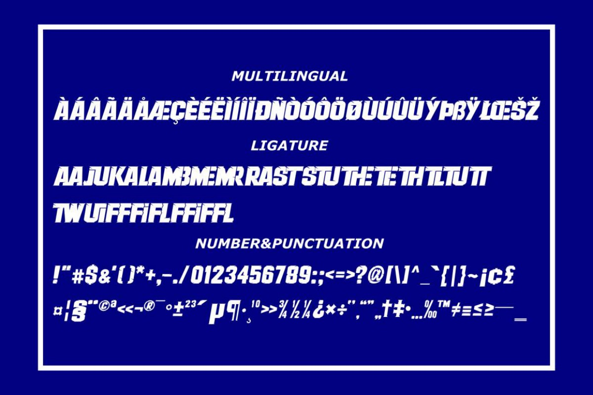 Therace in Display Fonts