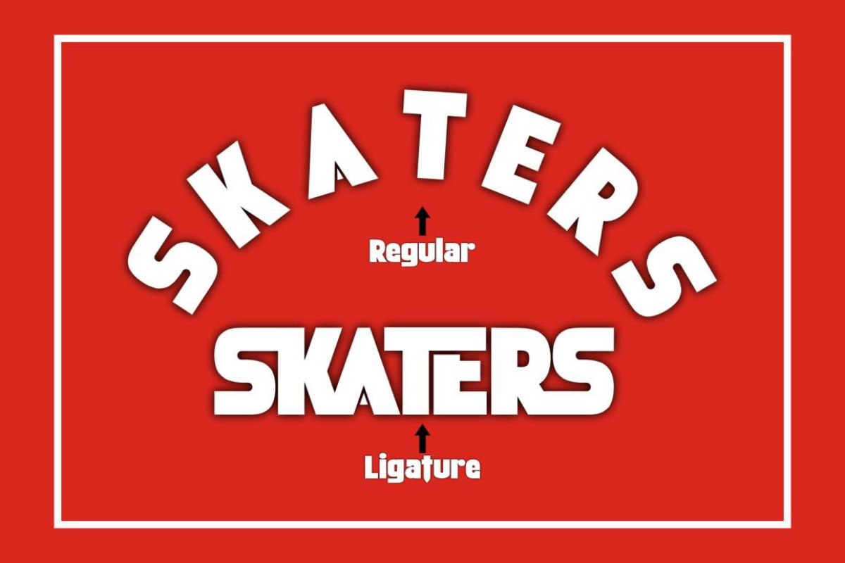 Skaters in Display Fonts