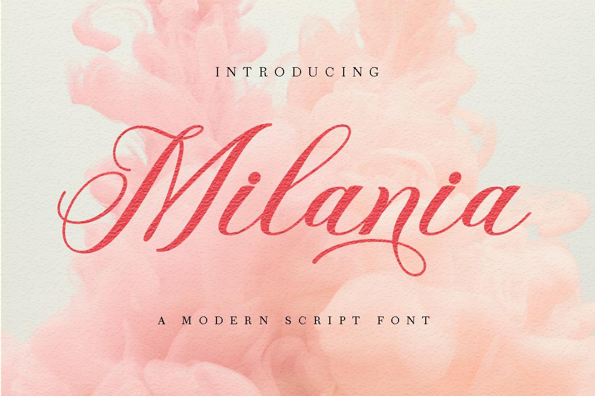 Milania in Script Fonts