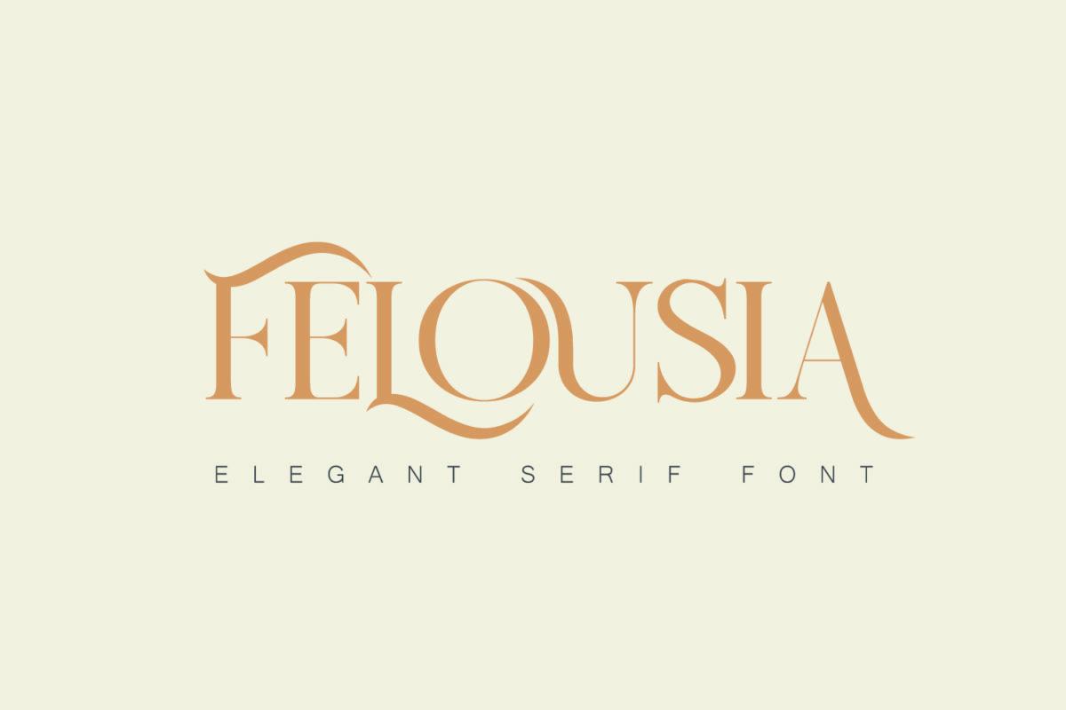 Felousia - Elegant Serif Font in Serif Fonts