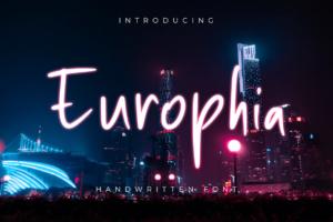 Europhia in Handwriting Fonts