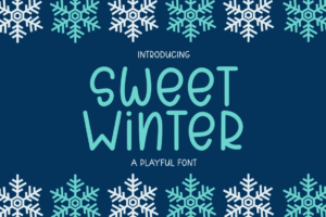 Sweet Winter - A Playful Font in Display Fonts