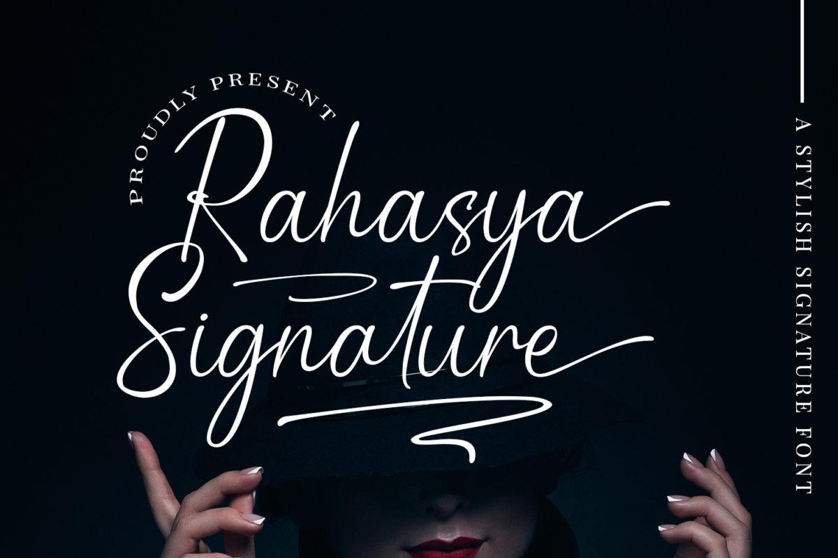 Rahasya Signature - Handwritten Font in Calligraphy Fonts