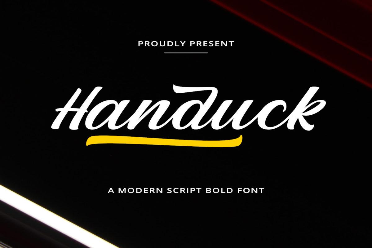 Handuck - Modern Script in Brush Fonts