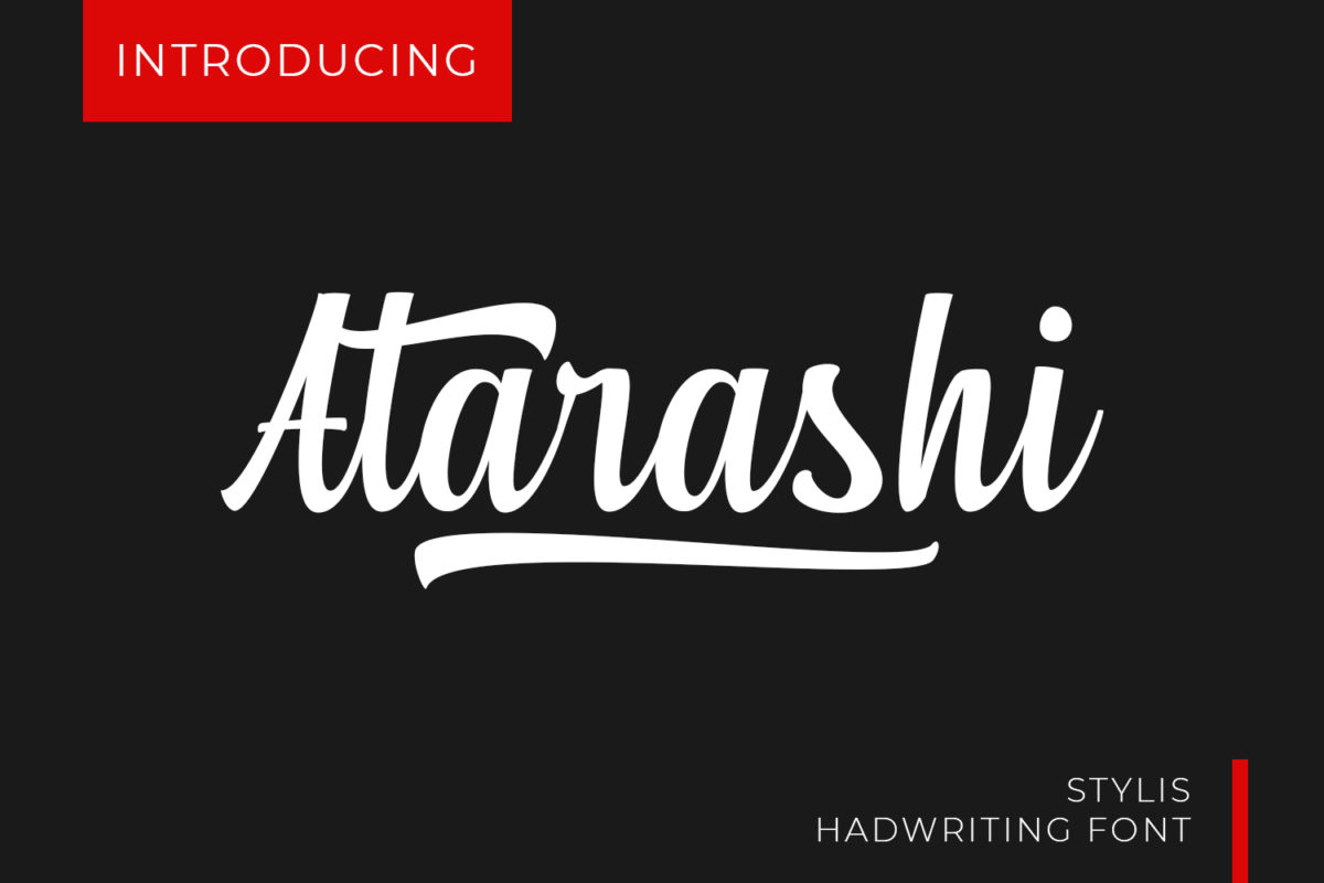 Atarashi - Modern Script in Script Fonts