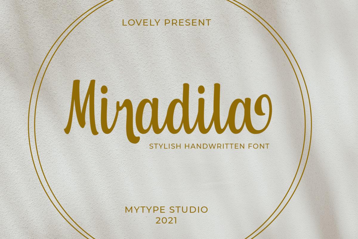 Miradila in Handwriting Fonts