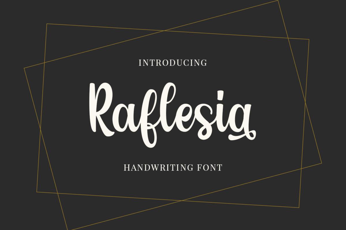 Raflesia - Handwritten Font in Handwriting Fonts