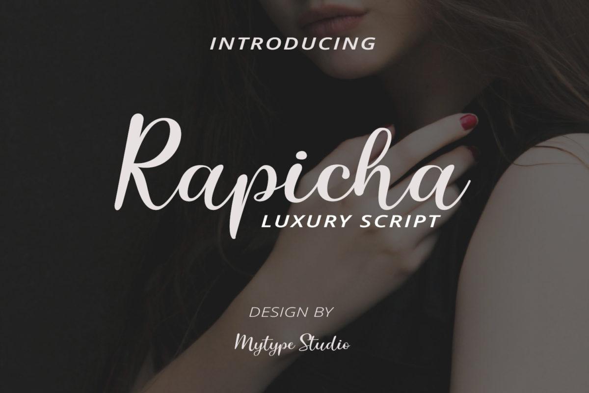 Rapicha - Handwritten Font in Calligraphy Fonts