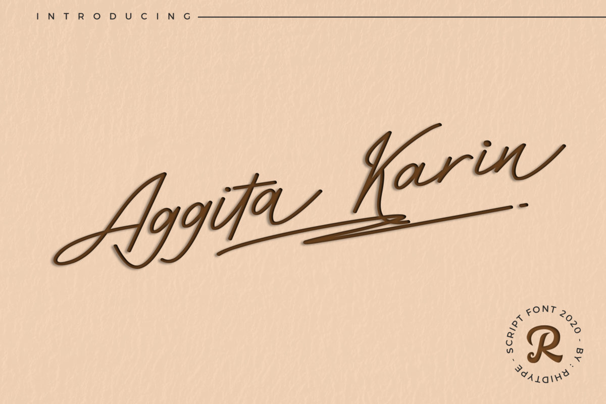 Aggita Karin in Decorative Fonts