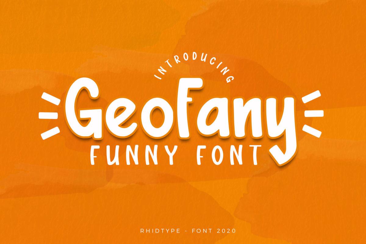 Geofany in Display Fonts