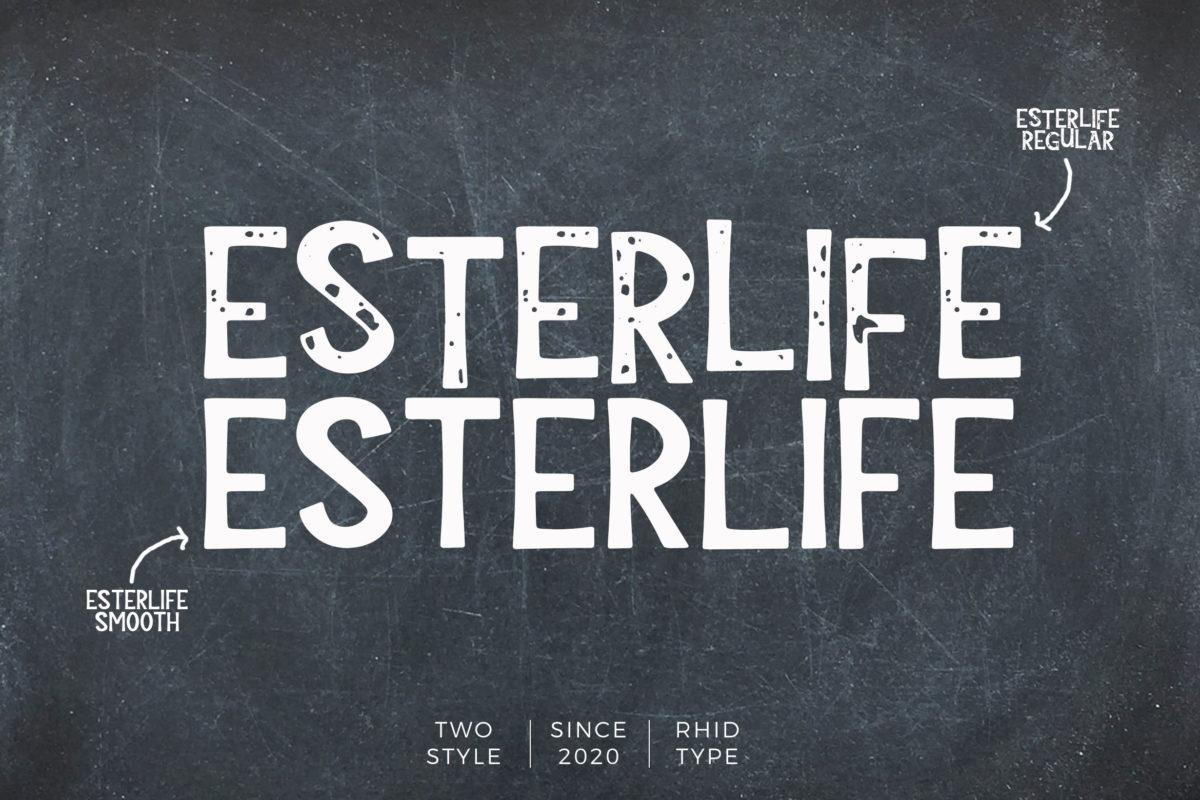 ESTERLIFE in Display Fonts
