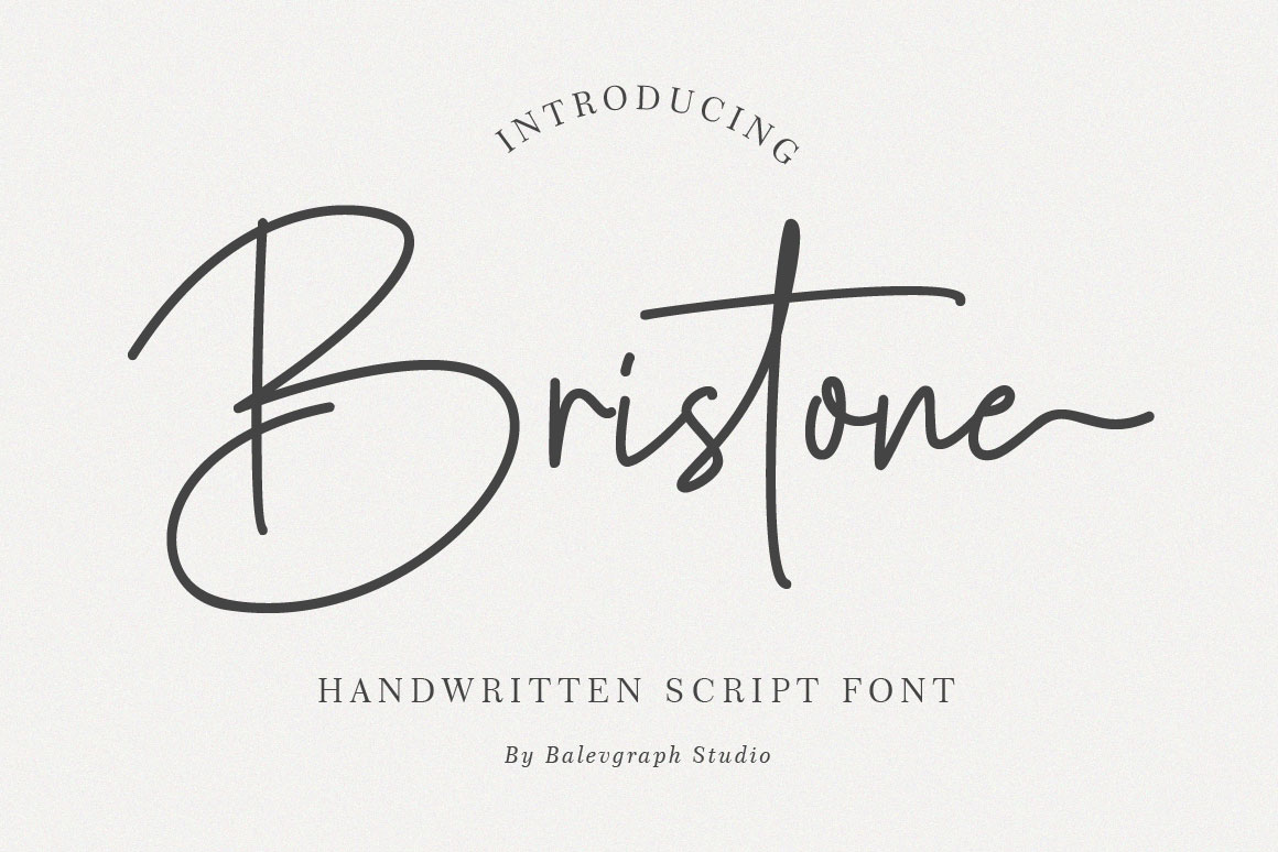 Bristone - Handwritten Script Font in Handwriting Fonts