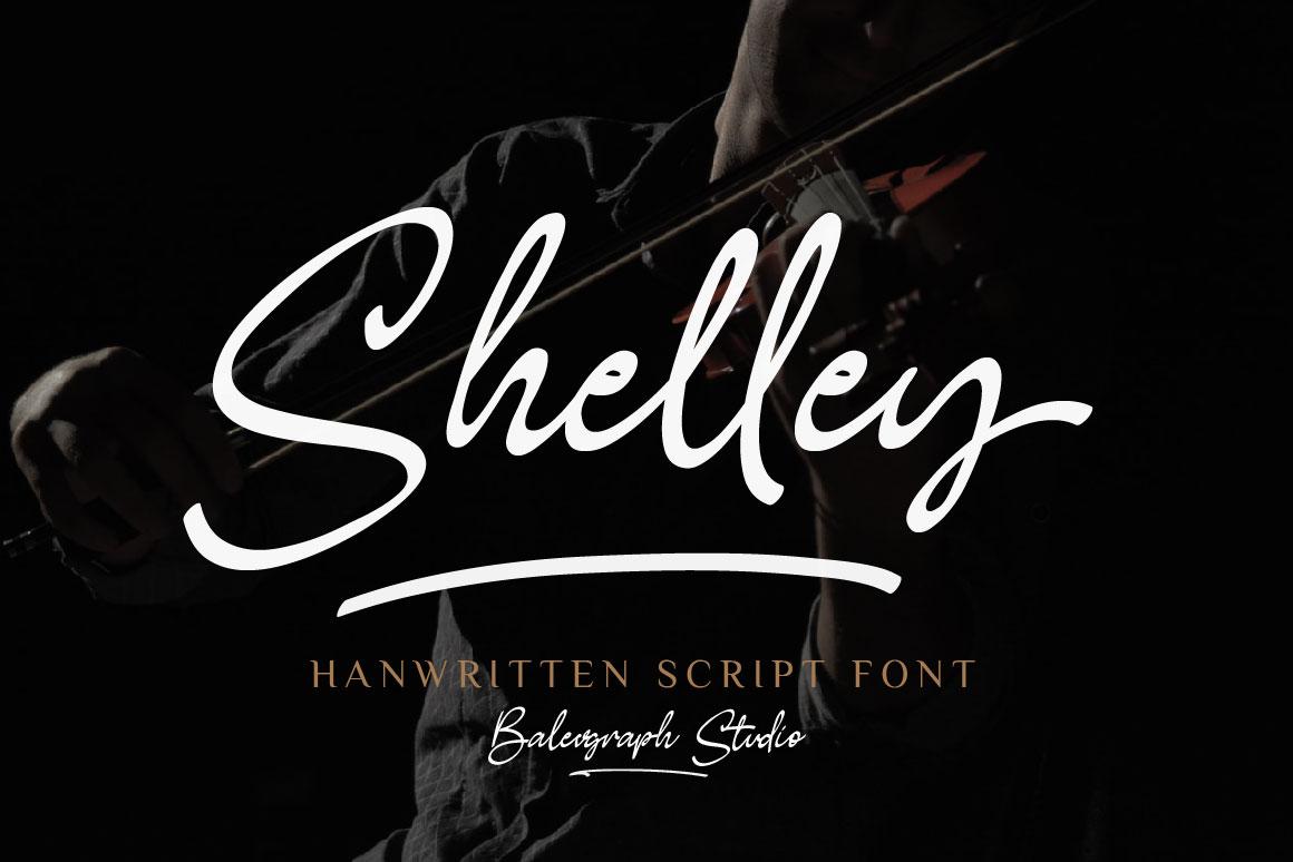 Shelley - Brush Script Font in Brush Fonts