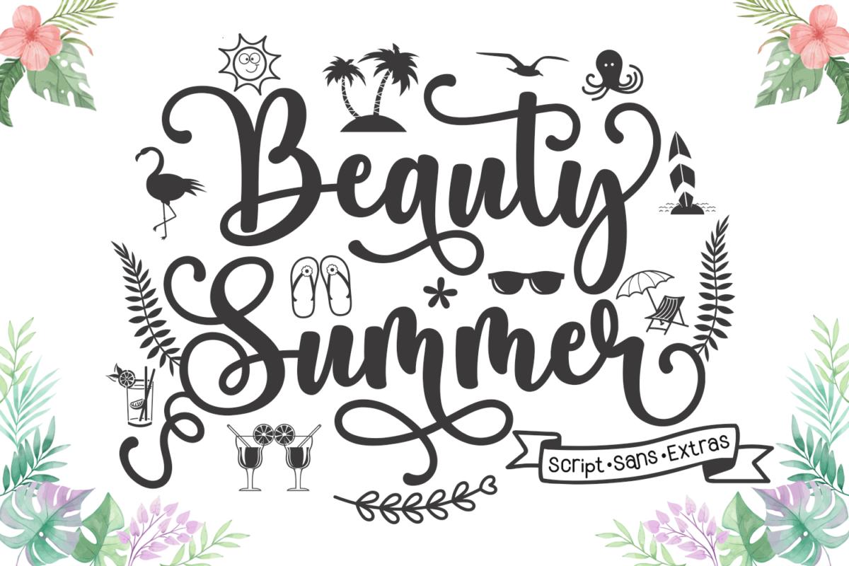 Beauty Summer in Sans Serif Fonts