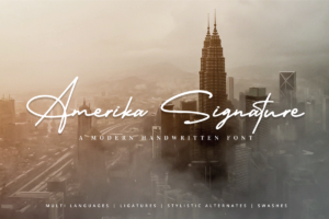 Amerika Signature in Calligraphy Fonts