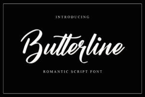 Butterline in Handwriting Fonts
