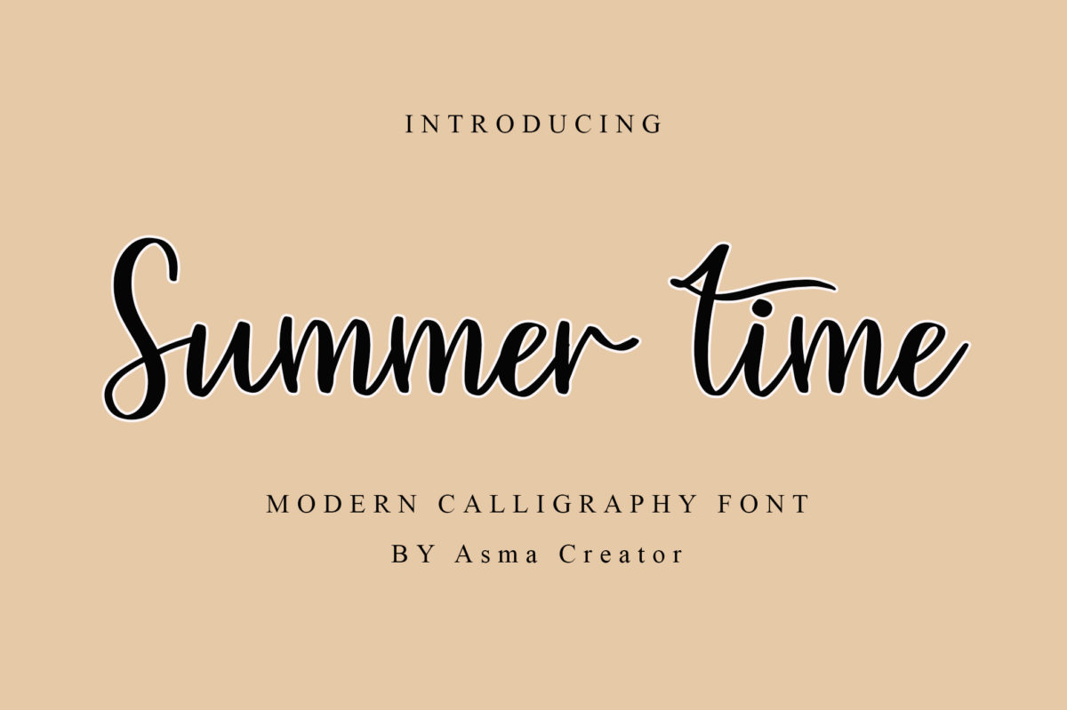 Summer Time in Calligraphy Fonts