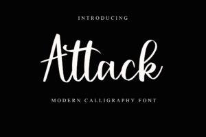 Attack in Script Fonts