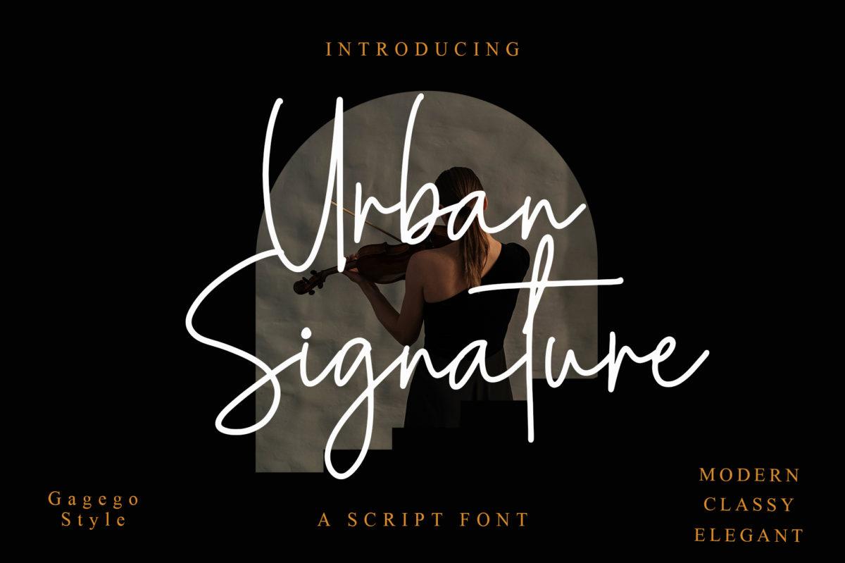 Urban Signature in Script Fonts