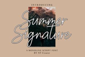 Summer Signature in Script Fonts