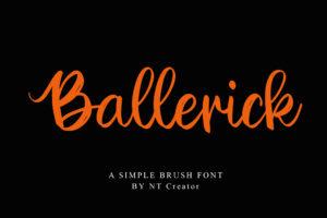 Ballerick in Calligraphy Fonts