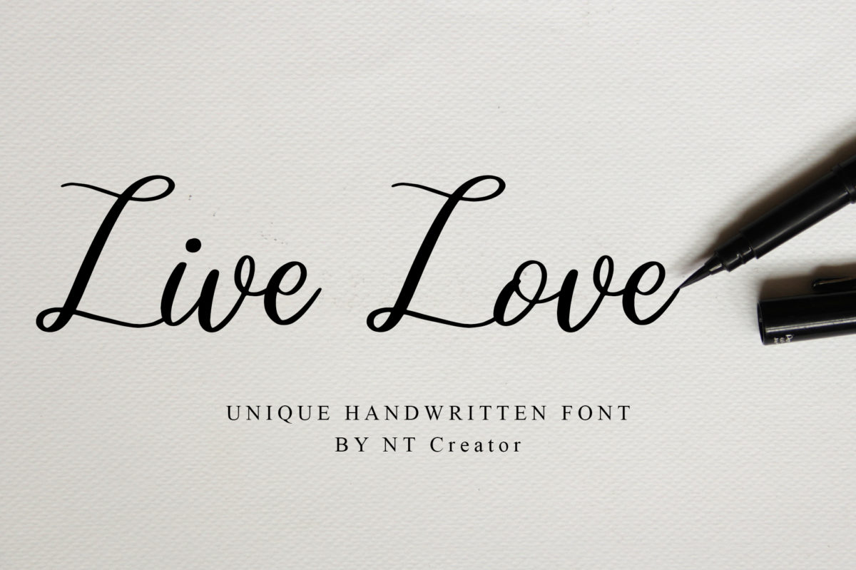 Live Love in Calligraphy Fonts
