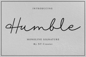 Humble in Script Fonts