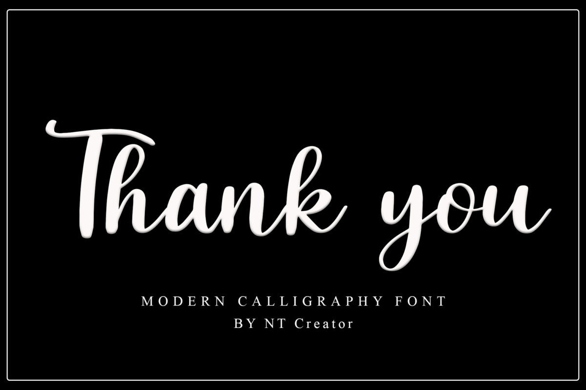 Minimalist in Calligraphy Fonts