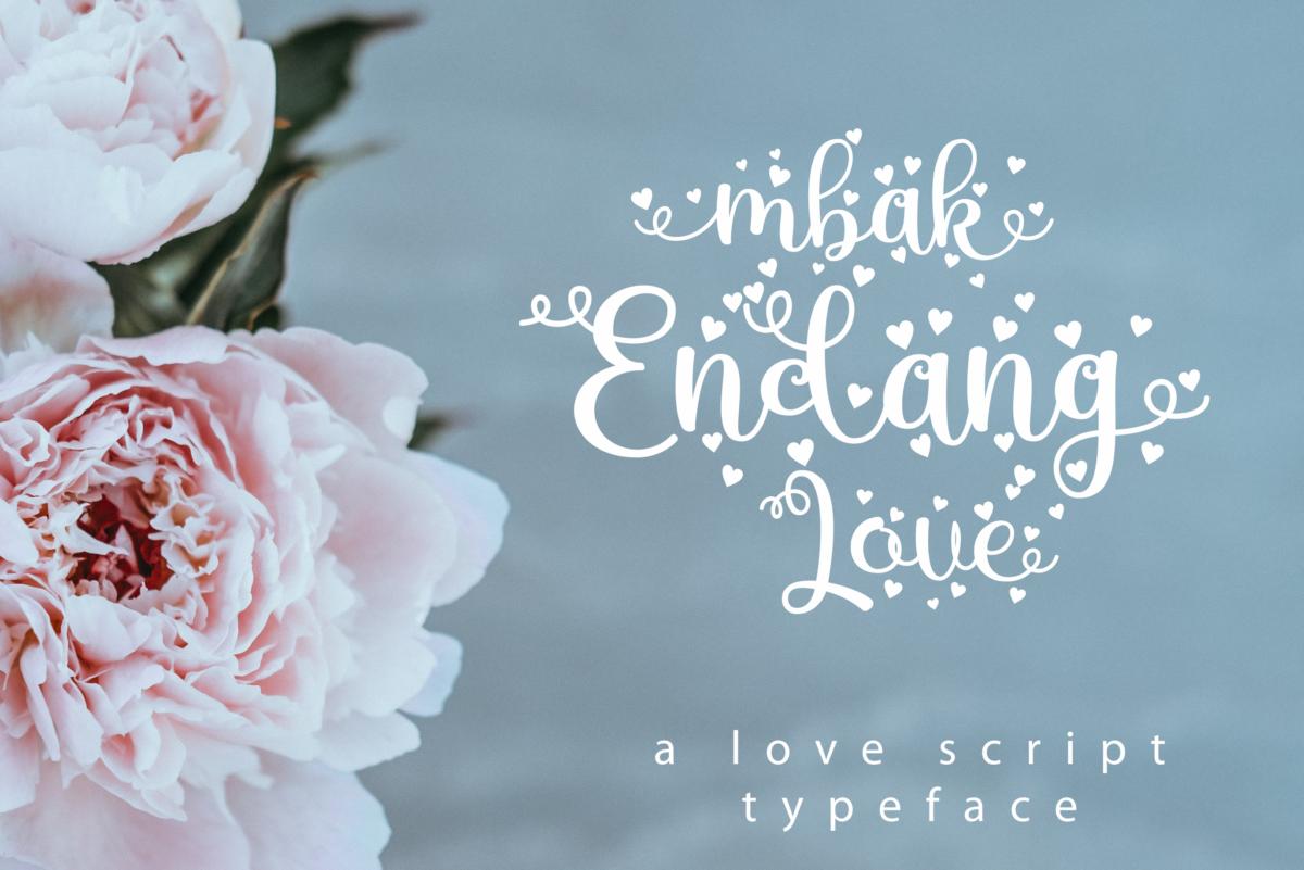 Mbak Endang Love in Display Fonts