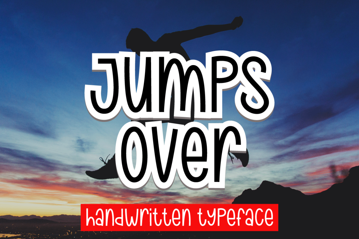 Jumps Over in Handwriting Fonts