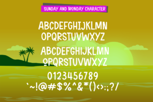 Sunday and Monday in Sans Serif Fonts