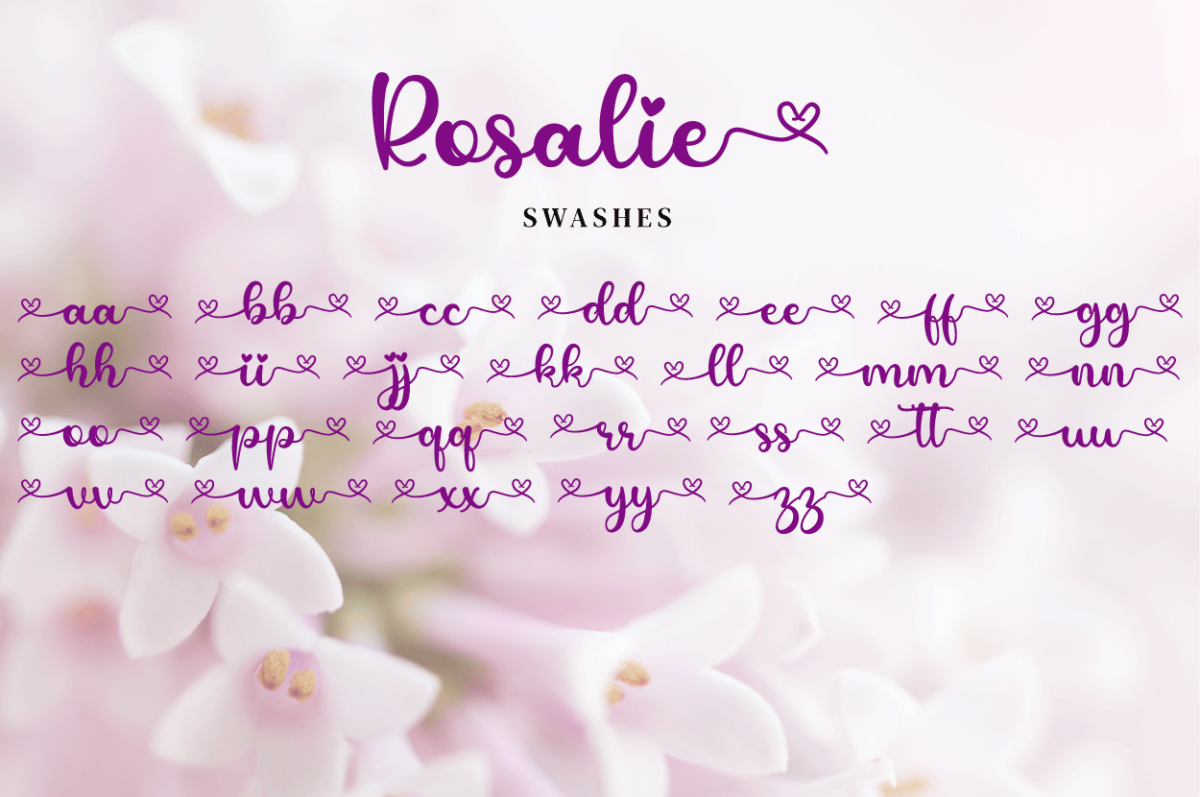 Rosalie in Calligraphy Fonts