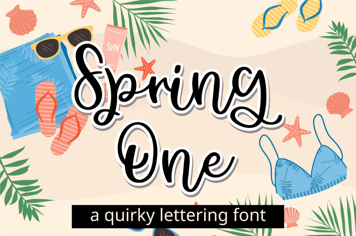 Spring One in Script Fonts